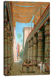 Canvas print  Interior of the palace of an egyptian ruler - Dionisio Baixeras-Verdaguer