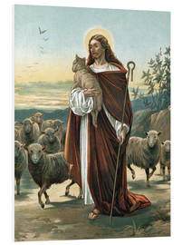 Foam board print  The good shepherd - John Lawson