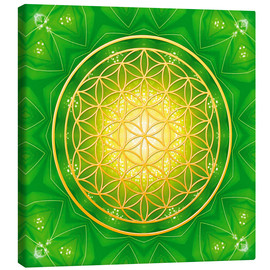 Canvas print  Flower of life - healing - Dolphins DreamDesign