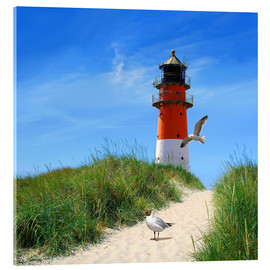 Acrylic print  On lighthouse at the dike - Monika Jüngling