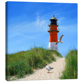 Canvas print  On lighthouse at the dike - Monika Jüngling