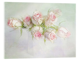 Acrylic print  pretty pink roses - Lizzy Pe