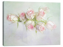 Canvas print  pretty pink roses - Lizzy Pe