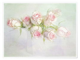 Premium poster  pretty pink roses - Lizzy Pe