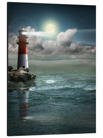 Aluminium print  Lighthouse by moonlight - Monika Jüngling
