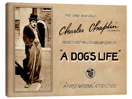 Canvas print  A Dogs Life, Charlie Chaplin poster Photo 1918