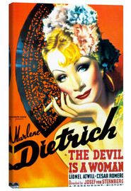 Canvas print  THE DEVIL IS A WOMAN, Marlene Dietrich, 1935 Poster Art
