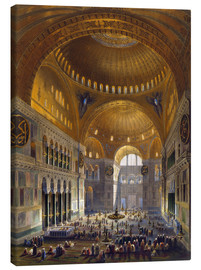 Canvas print  Turkey: Hagia Sopia, 1852. - Louis Haghe