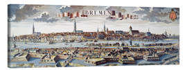 Canvas print  Bremen, Germany, 1719