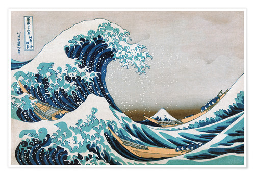 Premium poster The Great Wave, Katsushika