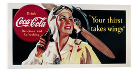 Acrylic print  Coca-Cola, your thirst takes wings