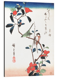 Aluminium print  Flowers and Birds - Utagawa Hiroshige