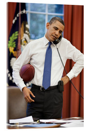 Acrylic print  President Barack Obama talks on the phone