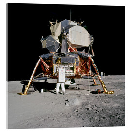 Acrylic print  Apollo 11 Astronaut and Edwin Aldrin on the Moon