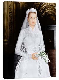Canvas print  The Wedding in Monaco, Grace Kelly