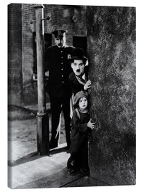 Canvas print  Tom Wilson, Charles Chaplin and Jackie Coogan in The Kid