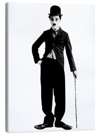 Canvas print  Charlie Chaplin with walking stick