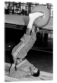 Acrylic print  Joe Frazier during training with a medicine ball