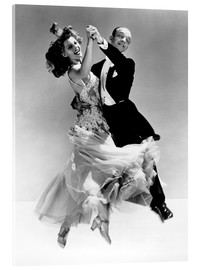 Acrylic print  Rita Hayworth and Fred Astaire