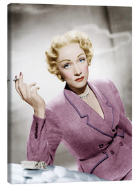 Canvas print  Marlene Dietrich, wearing a suit by Christian Dior