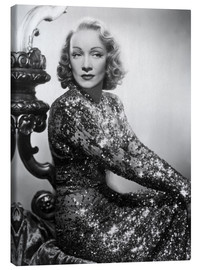 Canvas print  Marlene Dietrich in a sequined dress