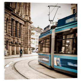 Acrylic print  Munich city traffic - Hannes Cmarits