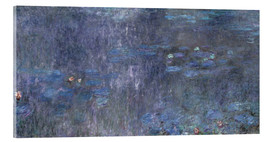 Acrylic print  Water Lilies, Reflection of trees 2 - Claude Monet
