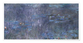 Premium poster  Water Lilies, Reflection of trees 2 - Claude Monet
