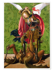 Premium poster  St. Michael kills the dragon - Josse Lieferinxe