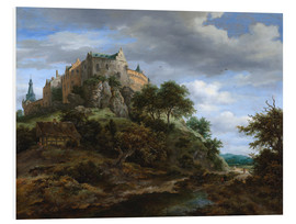 Foam board print  The castle Bentheim - Jacob Isaacksz van Ruisdael