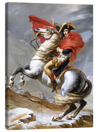 Canvas print  Napoleon Crossing the Grand Saint-Bernard Pass - Jacques-Louis David