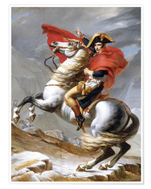 Premium poster  Napoleon Crossing the Grand Saint-Bernard Pass - Jacques-Louis David