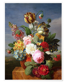 Premium poster Bouquet of flowers in a vase
