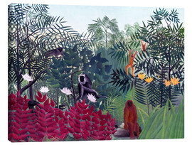 Canvas print  Tropical forest with monkeys - Henri Rousseau