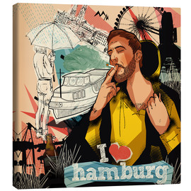 Canvas print  I love Hamburg - Sugah