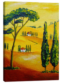 Canvas print  Tuscany Landscape 2 - Christine Huwer