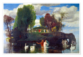 Premium poster  Island of the living - Arnold Böcklin