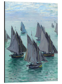 Aluminium print  Fishing Boats in Calm Waters - Claude Monet