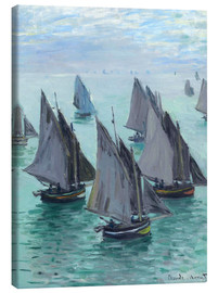 Canvas print  Fishing Boats in Calm Waters - Claude Monet
