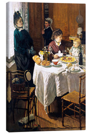 Canvas print  The Breakfast - Claude Monet
