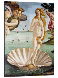 Aluminium print  The Birth of Venus (detail) - Sandro Botticelli