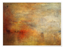 Premium poster  Sunset over a lake - Joseph Mallord William Turner