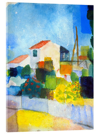 Acrylic print  The bright house (first version) - August Macke
