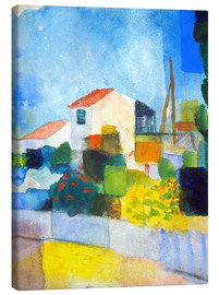Canvas print  The bright house (first version) - August Macke