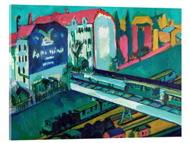 Acrylic print  Tram and railway - Ernst Ludwig Kirchner