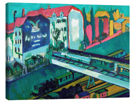 Canvas print  Tram and railway - Ernst Ludwig Kirchner