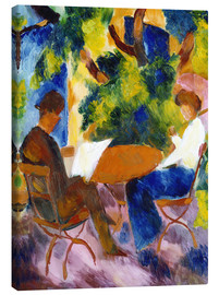 Canvas print  Couple at the Garden Table - August Macke