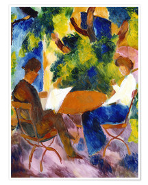 Premium poster  Couple at the Garden Table - August Macke