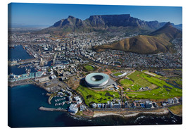 Canvas print  Cape Town Stadium and Table Mountain - David Wall