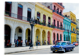 Acrylic print  Pastel buildings in Havana, Cuba - Bill Bachmann